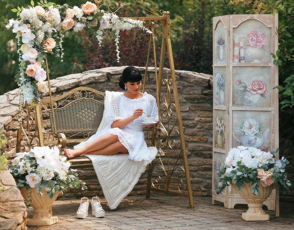 Летний сад свадьба